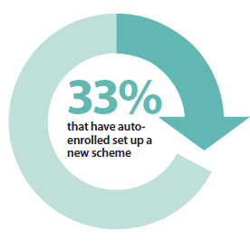 33% of those who have auto-enrolled set up a new scheme