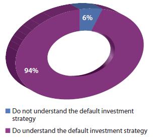 Respondents' understanding of default investment strategies (2013)
