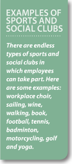 Examples of sports and social clubs