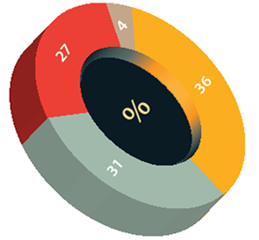 Pie chart showing how employers chose the default investment fund