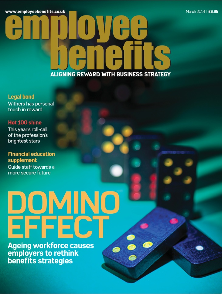 Employee Benefits magazine cover March 2014
