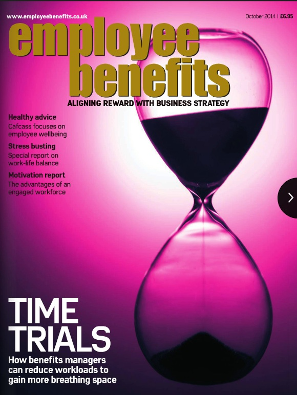 Employee Benefits magazine cover October 2014