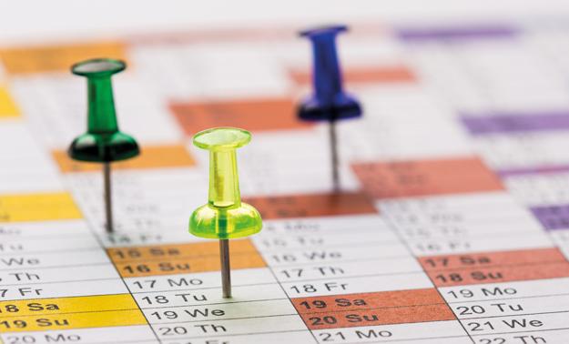 Flexible benefits calendar