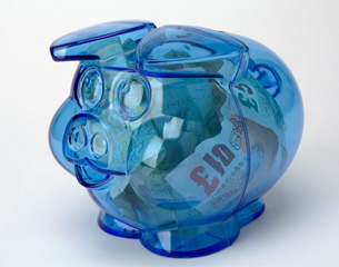 Pension piggy pot