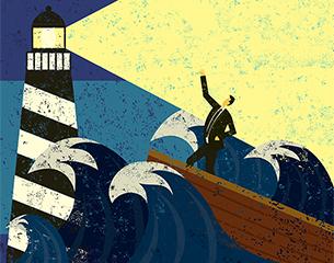 Boat lighthouse
