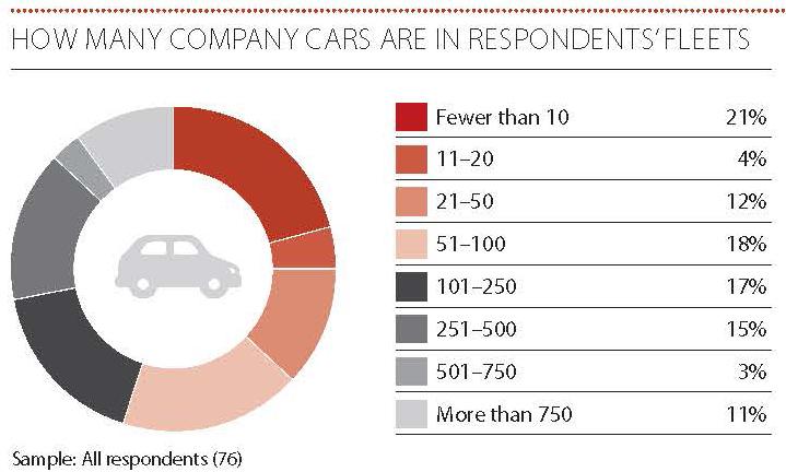 ompany cars in respondents fleet