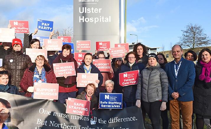 rcn northern ireland nursing staff pay dispute