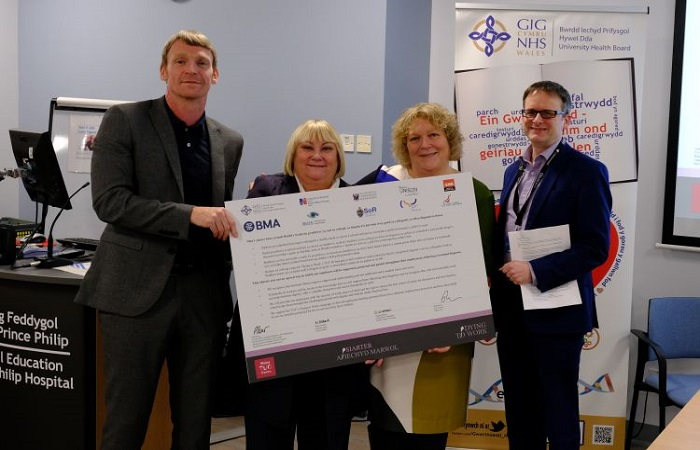 Hywel Dda University Health Board signs TUC Dying to Work Charter