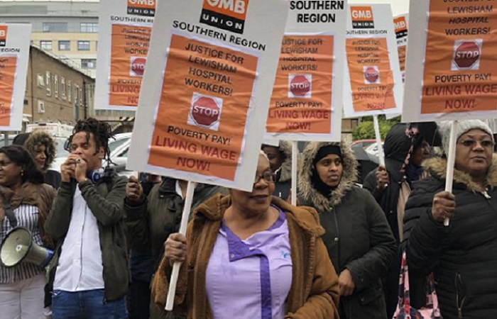 NHS cleaners protest over ISS failing to rectify pay issues