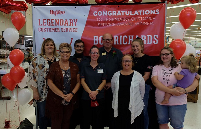 Hy-Vee rewards finest employee by rolling out the roll carpet